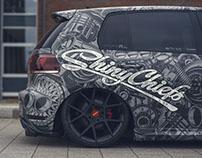 VW Golf wraping design