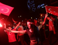 Coup Attemp Protest in Izmir - Turkey