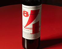 Etiqueta de vino «84» Malbec
