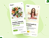 Organo & Heal Mobile UI Design