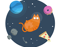 Fat Space Cat