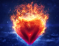 Heartfire   Promotional Artwork Design