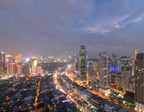 Day to Night Timelapse of Manila, Philippines.
