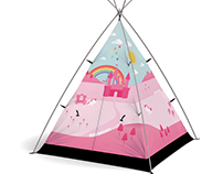 FieldCandy personalised Little Campers tent collection