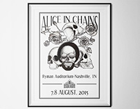 "Poster design ""Alice in Chains"""