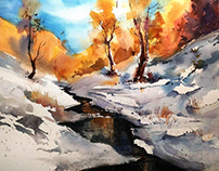 WATERCOLOR DEMONSTRATIONS - 2018 - PART - 1
