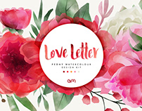 Love Letter - Peony Watercolour