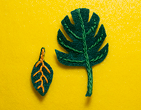 Felt Embroidery Leaves