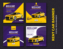 Rent Car Social Media banner Templates