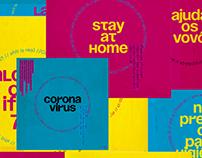 Corona Vírus - Cards Digitais