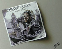 Drawing Flyer 3D Jon Snow in the Battle of Bastards