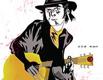 Neil Young Wolverine mashup Old Man Logan