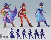 Concept Art. Character design. Far West witches