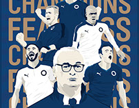 Champions 2016 Illustrated Prints
