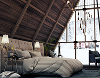 Snowy Forest Bedroom