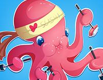 Octopus loves sushi