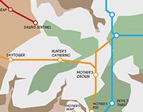 UV PRINTER ASSIGNMENT // HORIZON ZERO DAWN SUBWAY MAP