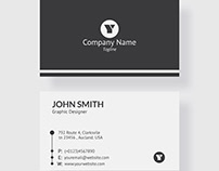 Matte Grey Business Card