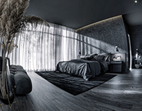 CGI - BEDROOM ALL BLACK