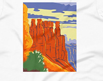 Bryce Canyon National Park Utah WPA Poster Art Color