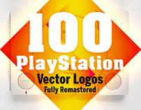 100 PS1 Logos Remastered in Adobe Illustrator