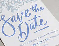 Jess & Cory: Save the Date & Wedding Invitation