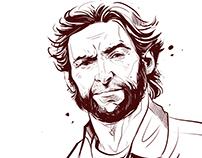 Hugh Jackman, Wolverine - quick sketch