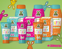 Kids cosmetics branding and packaging