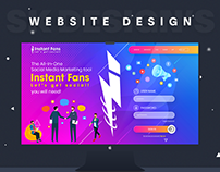 "Instant Fans Website Design ""SMM Panel"""