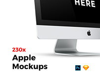 230x Apple Mockups Bundle