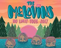 THE MCLOVINS 2017 TOUR POSTER