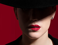 Lady in Red / Beauty Retouch / Before After
