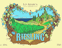 Illustration Wine Lo Abarca - Riesling