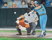 Fine Art/Painting - Baseball Oil Paintings