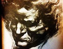 Portrait Ludwig Van Beethoven /charcoal