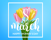 Women`s Day Creative Illustrations. 8 March