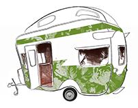 Nancy & Betty - Caravan Illustration