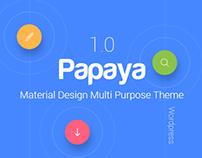 Papaya Multipurpose Material Design Wordpress Theme