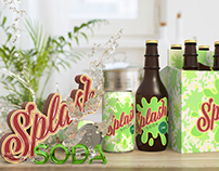 Splash Soda 3D Product Scene