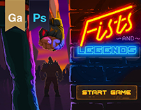 fists and legends. pixel art game
