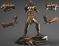 God of War Kratos 3D Model | Static Figure