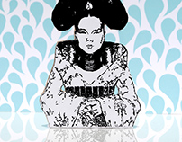 Björk Homogenic Recreation Illustration