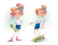 Skater girl character
