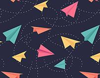 Imagine: Paper Planes Pattern