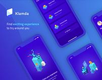 Klamda, Experience finder mobile application