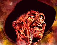 Horror Movie Portraits 2017 Freddy Krueger