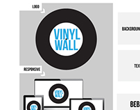 Vinyl Wall Wireframe and Style Guide