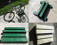 Wooden bike stand