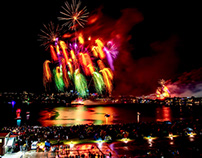 2018 Sydney NYE - Fireworks from Cockatoo Island