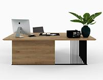 Office table GRAF OFFICE BLACK for HBMart